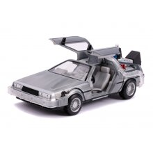 Official Back To The Future BTTF 2 1989 DeLorean Time Machine 1/24 Scale Jada Toys Figure