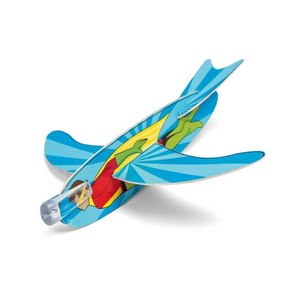 Easy To Make /& Fun to Fly 4 Superhero Glider Toys Childrens Gift Filler Toy