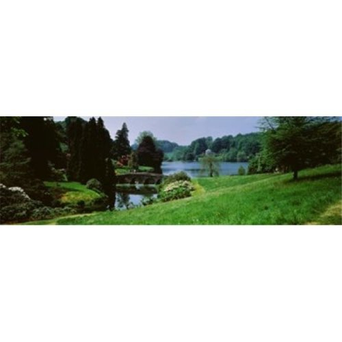 Stourhead Garden  England  United Kingdom Poster Print by  - 36 x 12