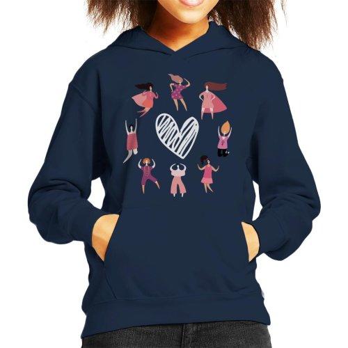Girl Power Women Circle Super Kid's Hooded Sweatshirt