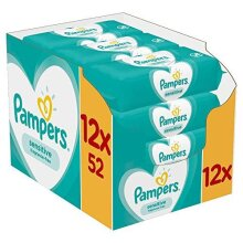 12pk Pampers Sensitive Fragrance-Free Baby Wipes - 12 x 52 Wipes