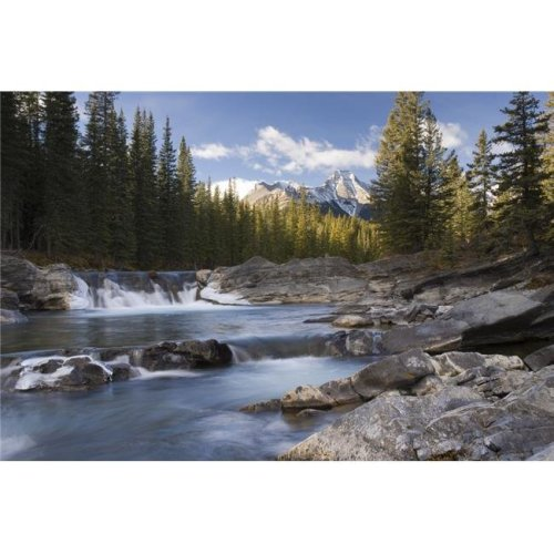 Waterfall On Sheep River - Kananaskis Alberta Canada Poster Print, Large - 34 x 22