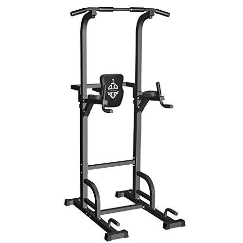 Sportsroyals Power Tower Dip Station Pull Up Bar for Home Gym Strength Training Workout Equipment, 400LBS