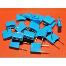 Metallized Polyester Film Capacitor 0.0022uF 100v Pitch 5mm PACK of 50