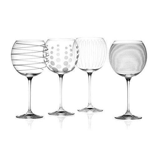 Mikasa Cheers Set of 4 Crystal Balloon Gin Glasses