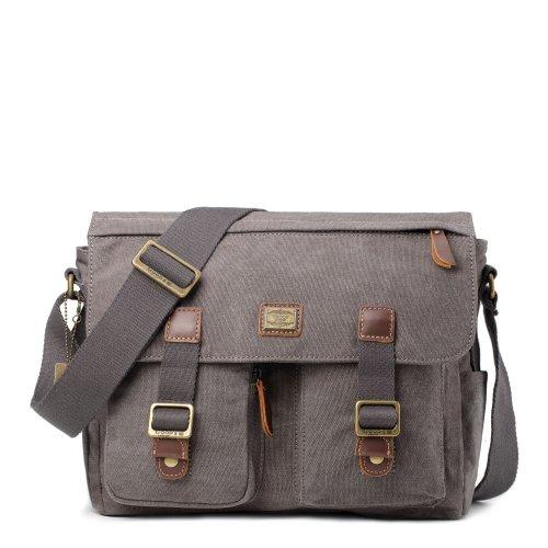 Troop London Heritage Large Canvas Messenger Bag | Buy Bags Online | Canvas Messenger Bags | shoulder bags for men