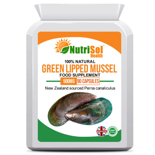 Green Lipped Mussel Extract 500mg 90 Capsules for Healthy Joints