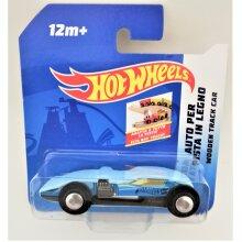 Hot Wheels Wooden Track Car (Light Blue ) 12m+