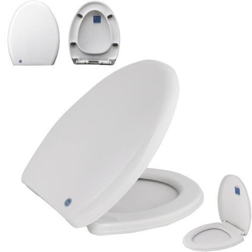 Soft Close Toilet Seat White Bathroom WC V Shape Heavy Seats Anti Slam