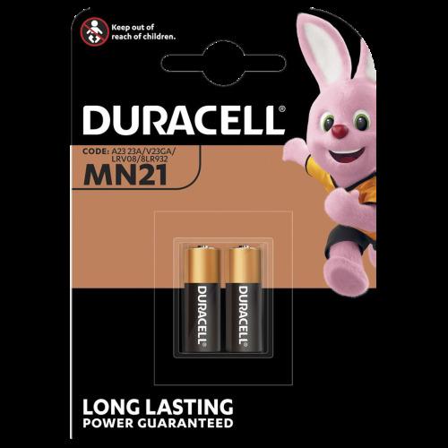 2 x Duracell Alkaline MN21 A23 12V Battery 23A LRV08 K23A E23A Batteries