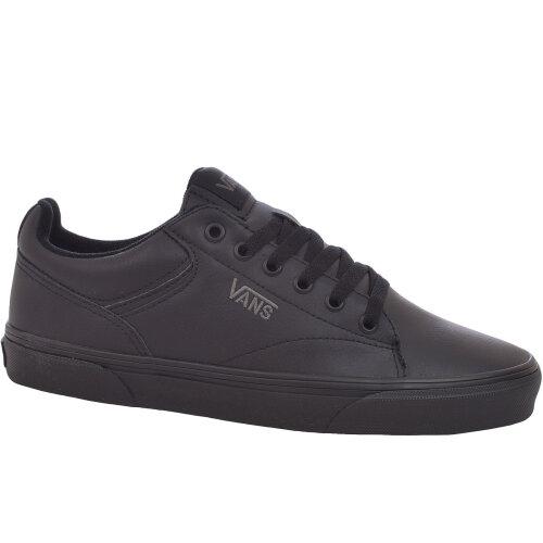 (10K UK, Black) Vans Boys Youth Kids Seldan School Casual Trainers Sneakers Shoes - Black