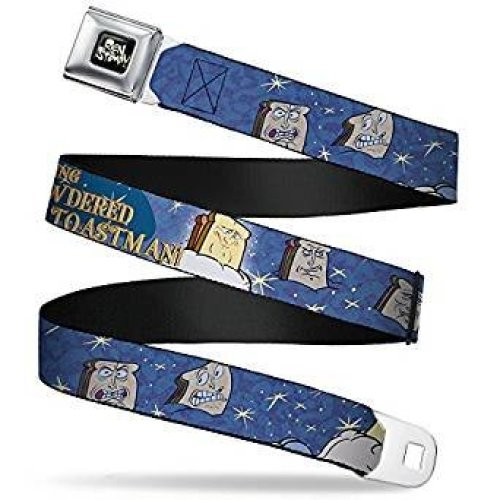 Seatbelt Belt - Ren & Stimpy - V2 Adj 24-38' Mesh New rnb-wrn003