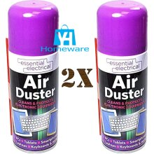 2 x 200ml Compressed Air Duster Can Spray Clean Laptop Keyboard Computers Mobile