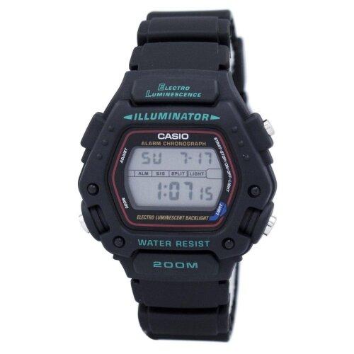 Casio Digital Classic Alarm Chronograph Wr200m Dw-290-1vs Dw-290-1 Men's Watch