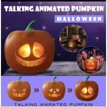 Animated Talking Pumpkin Halloween Party Scary Jabberin Jack Ghost