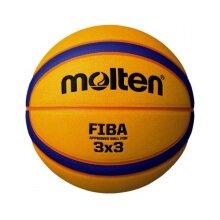 Molten B33T5000 3x3 FIBA Approved PU Match Ball 12 Panel Size 6 Blue/Yellow