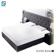 Quilted Waterproof Mattress Protector Topper Fitted Cover Super King