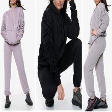 Long Sleeve Hooded Pockets Pullover Hoodie Dress