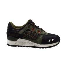 Asics Gel-Lyte III Mens Black Leather Textile Lace Up Trainers H5T3N 9090