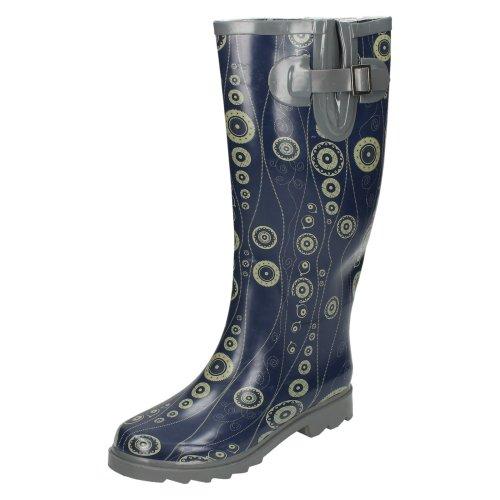 Ladies Spot On Circle Print Wellington Boots