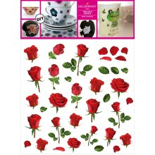 "Decorprint Peelable Decals 7.75""X7.75""-Smart Rose"