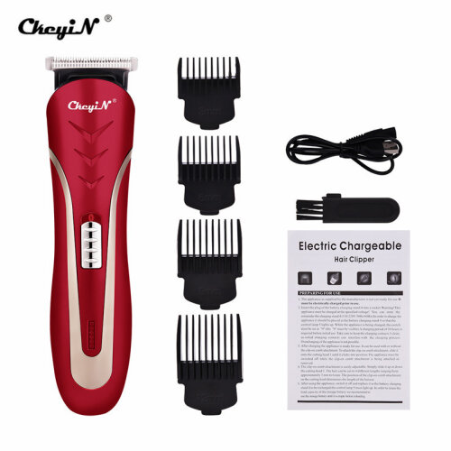 CkeyiN Portable Electric Hair Clipper Rechargeable With 4 Limit Combs