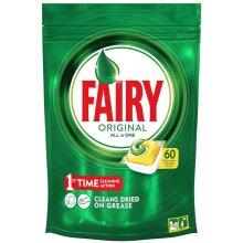 Fairy Original All in One Lemon 60 Dishwasher Capsules