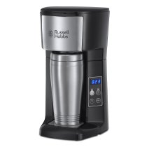 Russell Hobbs 22630 Brew and Go Filter Coffee Machine and Mug, Stainless Steel, 400 ml, Silver/Black