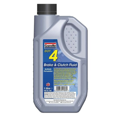 Granville DOT 4 Synthetic Brake & Clutch Fluid Oil Ideal for ABS Systems 1 Litre