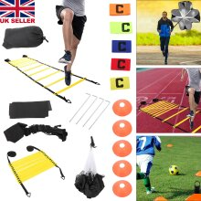 Speed Agility Ladder and Cone Bag Football Training Equipment Sports Team Set