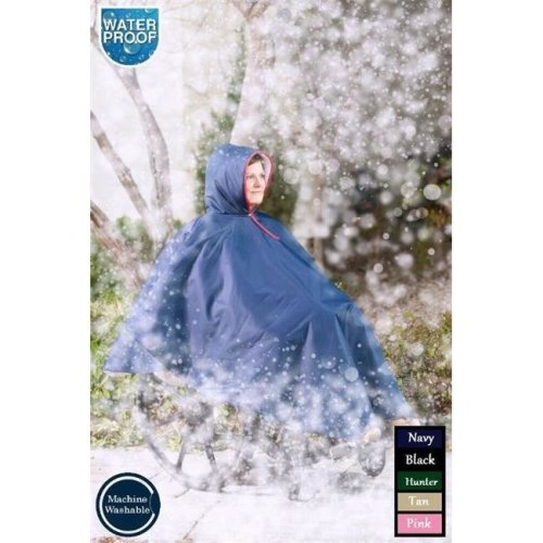 Care Apparel 9661-0-FOR Wheelchair Winter Poncho, Forest