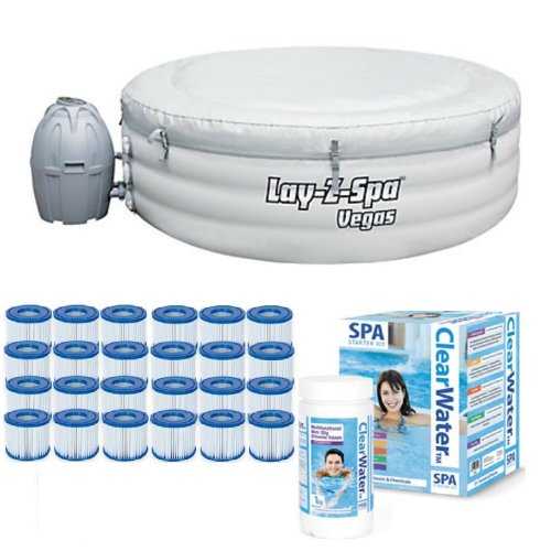 Bestway Lay Z Spa Vegas Gold Starter Kit Filters Chemicals