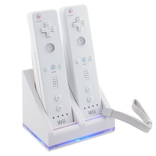 WII REMOTE DUAL BATTERY CHARGER + 2 BATTERIES