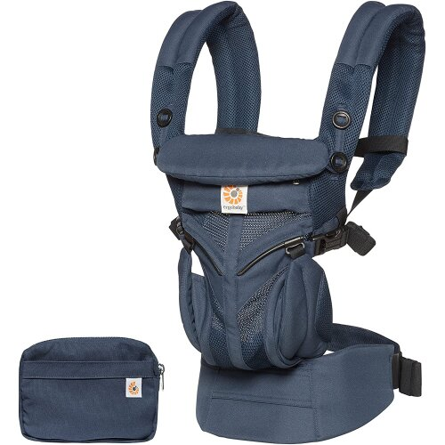 Ergobaby Baby Carrier for Newborn to Toddler, 4-Position Omni 360 Cool Air Mesh Ergonomic Child Carrier Backpack (Midnight Blue)