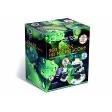 Discovery Adventures 360 Super HD Microscope 41 Piece Set With LED Illumination 60X 120X 200X Magnification Use With Smartphone Ages 8 Years+