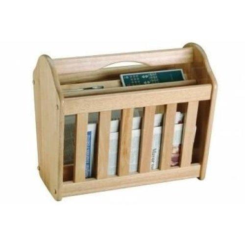 Wooden Magazine Rack Free Standing News Paper Mail Shelf Storage Holder Stand