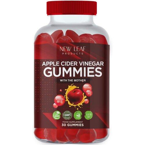 Apple Cider Vinegar Gummies High Strength Vegan With Folic Acid & B12