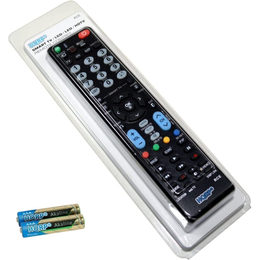 HQRP Universal Remote Control for LG 42LB630V, 47LB630V, 55LB630V Smart TV with webOS