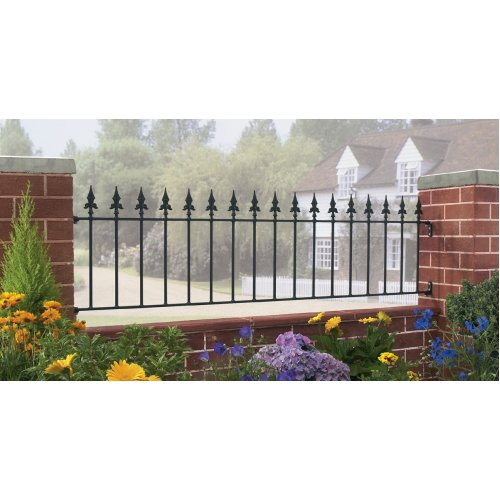 Saxon Spear-Top Metal Railing 1830mm GAP X 490mm H Wrought Iron Fence