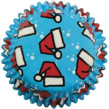 PME Santa Hats Paper Baking Cases for Cupcakes, Standard Size, Pack of 60