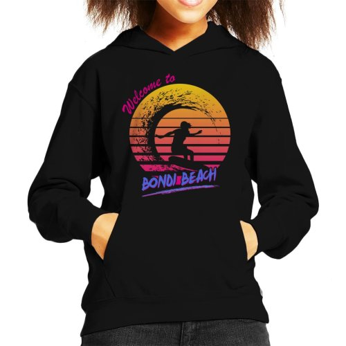 Bondi Beach Retro 80s Kid's Hooded Sweatshirt