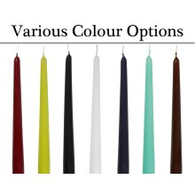 4 Choice of Colour Tapered Unscented Candles   Votive & Table Candles for Crafts