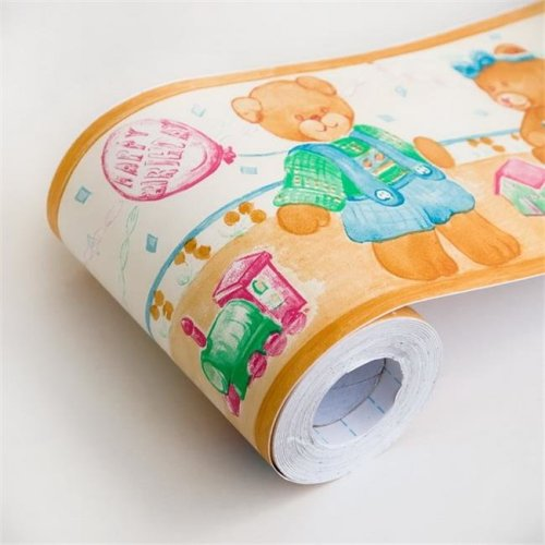 Balloon Teddy Self Adhesive Wallpaper Borders Home Decor Roll