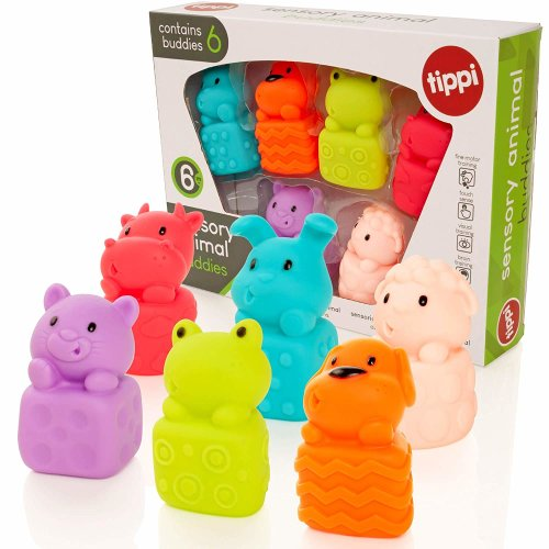 Tippi Soft Sensory Animal Buddies - Baby/Toddler Toy Play Figures