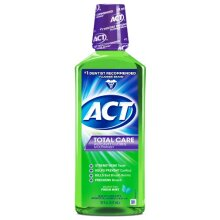 ACT Total Care Rinse Mouthwash Fresh Mint 18 Ounce Anticavity Fluoride Mouthwash Helps Support