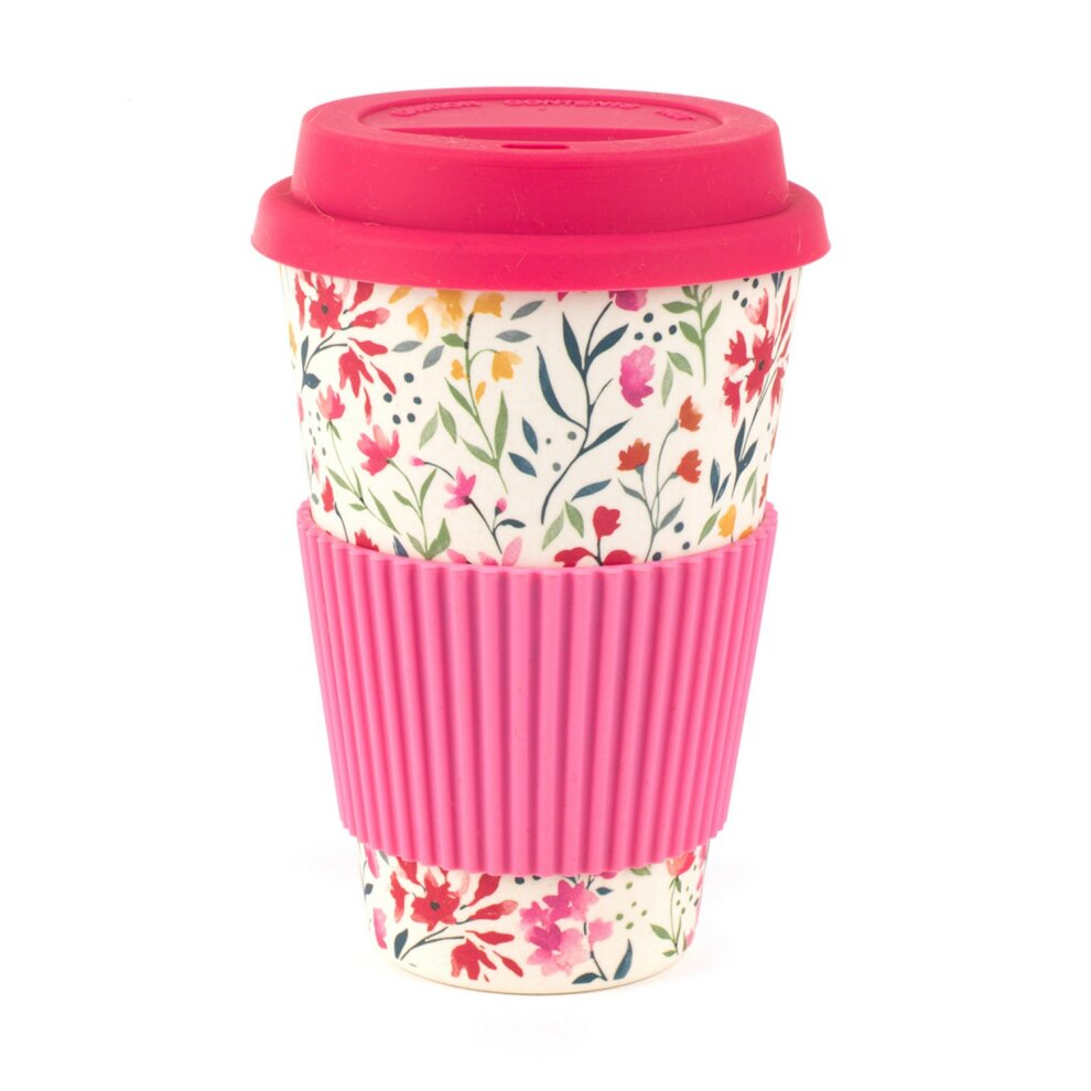 Customized Design Reusable Bamboo Fibre Coffee Cups with Lid