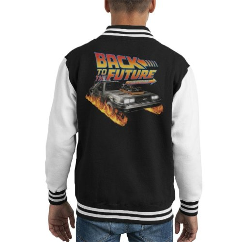 DeLorean Count Down Back To The Future Kid's Varsity Jacket