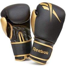 Reebok Unisex's Retail Boxing Gloves, Black/Gold, 10oz