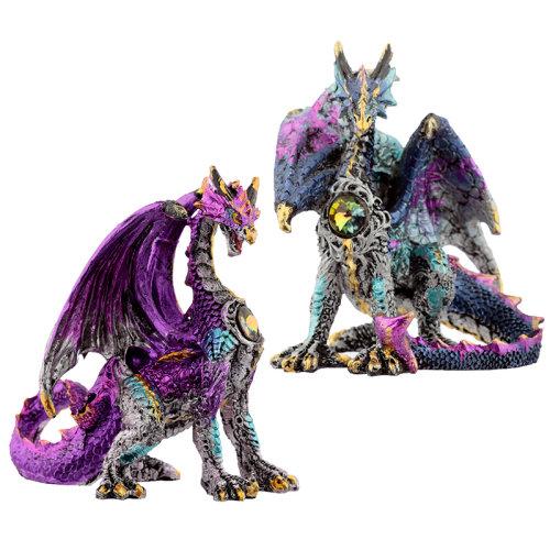 Crystal Shield Dark Legends Dragon Figurine