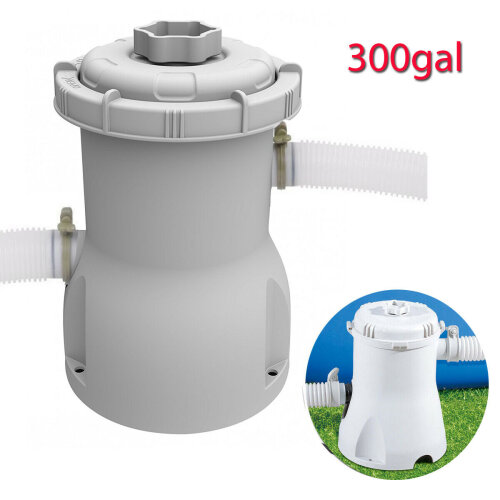 Swimming Pool Filter Pump & Cartridge for 8ft/10ft/12ft Pool 300/530 GALLONS